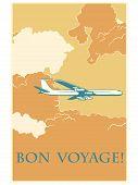 ������, ������: Retro airplane Bon voyage