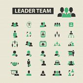 Постер, плакат: leader team icons leader team logo leader team vector leader team flat illustration concept lead