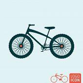 Постер, плакат: Bicycle Icon Isolated