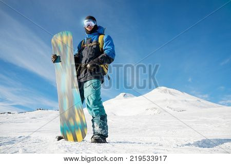 A professional snowboarder