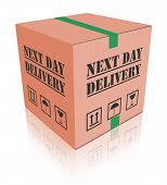 next day delivery urgent package shipment deliver shopping order cardboard box sending or shipping i