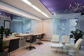 image of beauty salon interior  - Interior of a modern hair salon - JPG