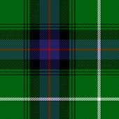 Macdonald Tartan Plaid. Scottish Pattern In Green, Black, Blue And Red Cage. Scottish Cage. Traditio poster