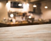 Table Top Counter Coffee Shop Cafe Interior Blur Bar Counter Background poster