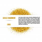 Gold Vector Banner On White Background. poster