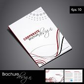 Professional business catalog template or corporate brochure design for document, publishing, print