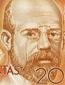 SPAIN - CIRCA 1980: Leopoldo Alas aka Clarin (1852-1901) on 200 Pesetas 1980 Banknote From Spain. As