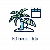 Retirement Savings Icon W Retiring And Monetary Images poster
