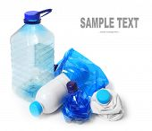 picture of waste management  - Group of empty plastic bottles - JPG