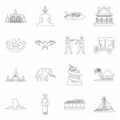Vector Illustration Of Landmark And Culture Sign. Collection Of Landmark And Tourism Vector Icon For poster
