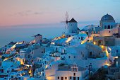 Oia village at Santorini island