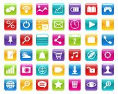 Multimedia Color Icons Set. Set Of Multi-colored Multimedia Icons For Applications Web Design Chatro poster
