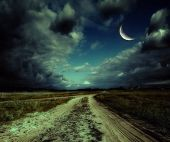picture of comet  - country road leading to the church - JPG