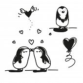 stock photo of animated cartoon  - valentine - JPG