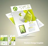 stock photo of pamphlet  - Magasine or brochure design element vector illustartion - JPG