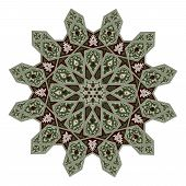 stock photo of motif  - Arabic middle eastern floral pattern motif based on Arabian ornament - JPG