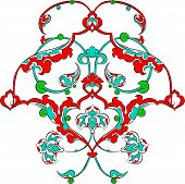 foto of rumi  - rumi pattern Ottoman turkish art vector for design - JPG