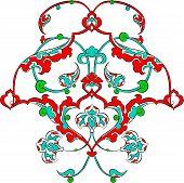 picture of rumi  - rumi pattern Ottoman turkish art vector for design - JPG