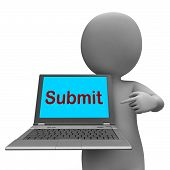 foto of submissive  - Submit Laptop Showing Submitting Submission Or Internet - JPG