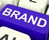 Brand Key Shows Branding Trademark Or Label poster