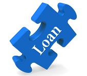 Loan Puzzle Shows Bank Lending Mortgage Or Loaning.