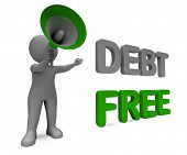 picture of debt free  - Debt Free Character Meaning Financial Freedom Credit Or No Liability - JPG