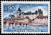 FRANCE - CIRCA 1973: A stamp printed in France shows Chateau de Gien circa 1973