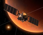 Spacecraft Orbiting Mars