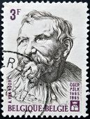 BELGIUM - CIRCA 1965: a stamp printed in Belgium shows Adam van Noort Flemish