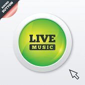 Live music sign icon. Karaoke symbol.