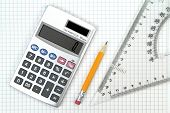 stock photo of protractor  - Calculator - JPG