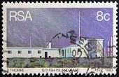 REPUBLIC OF SOUTH AFRICA - CIRCA 1983: A stamp printed in RSA shows gough island base