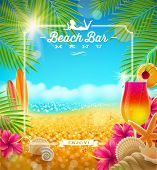 image of cocktail menu  - Tropical summer vacation  - JPG