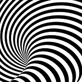 stock photo of uncolored  - Design uncolored whirlpool motion illusion background - JPG