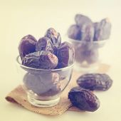 stock photo of malaysian food  - Dried date palm fruits or kurma - JPG