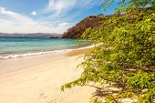 stock photo of papagayo  - Scenic view of the beach along the Golfo de Papagayo in Guanacaste Costa Rica - JPG