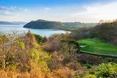 picture of papagayo  - Scenic view of the harbor of the Golfo de Papagayo in Guanacaste Costa Rica - JPG