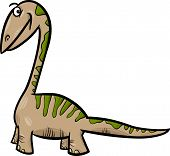 foto of apatosaurus  - Cartoon Vector Illustration of Apatosaurus Prehistoric Dinosaur - JPG
