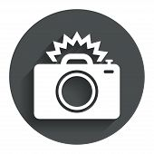 picture of flashing  - Photo camera sign icon - JPG