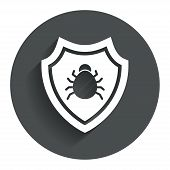 picture of shield-bug  - Shield sign icon - JPG