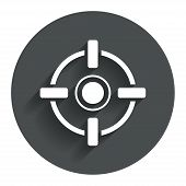 image of crosshair  - Crosshair sign icon - JPG