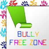 picture of school bullying  - Bully Free Zone Showing No Bullying And Cyberbullying - JPG