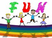 picture of youngster  - Fun Kids Representing Children Thrilled And Youngster - JPG