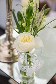 picture of centerpiece  - Wedding reception centerpiece close - JPG