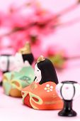 stock photo of doll  - Japanese Traditional Doll An image of Hina Doll - JPG