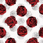 picture of english rose  - Floral Pattern - JPG