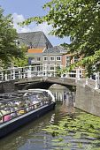 Tourist Sightseeing Boat In Delft poster
