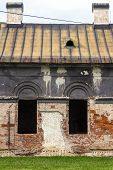 image of abandoned house  - Facade of old abandoned historic house in the district of the city of Zilina in Slovakia - JPG