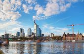 image of frankfurt am main  - Frankfurt am Maine Germany panoramic cityscape on a sunny day - JPG