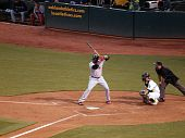 Red Sox David Ortiz Up To Bat With Kurt Suzuki Catching